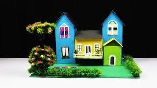 How To Make A Beautiful Morden House With Cardboard DIY Garden villa (Preview)