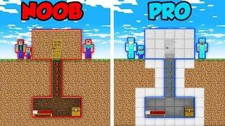 Minecraft NOOB vs. PRO: FAMILY HOUSE SECRET ROOMS in Minecraft! (Animation)