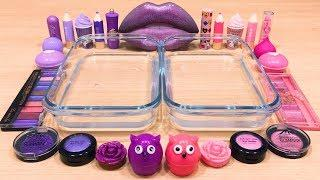 PURPLE vs PINK ! Mixing Makeup Eyeshadow into Clear Slime! Special Series#42 Satisfying Slime Videos