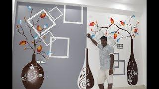 Simple & creative wall painting ideas for living room