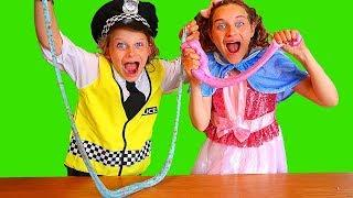 BIGGY THE POLICEMAN AND SPOILT SALLY MAKE SLIME | Pretend Play w/ The Norris Nuts