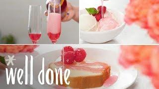 How To Make Raspberry Rosé Simple Syrup | Recipe | Well Done