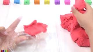 How To Make House For Dogs and Learn Colors Kinetic Sand Nursery Rhymes Song For Kids