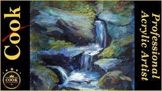 6 Things You Need to Know to Paint a Successful Waterfall Acrylic Painting Tutorial