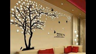 Top 80 Living Room Wall decorating Ideas | Easy Wall Painting designs