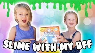 Teaching My 3 Year Old BFF How To Make Slime!!! ????????????