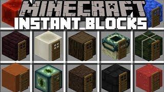 Minecraft INSTANT BLOCK HOUSE MOD / SPAWN BLOCKS AND MAKE INSTANT STRUCTURES !! Minecraft