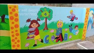 play school wall painting pictures,school cartoon wall painting  7997977993