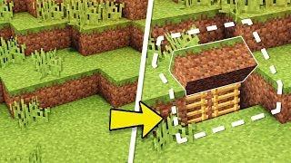 Mincraft: How to Build An Easy Survival Secret Base Tutorial (Hidden House)