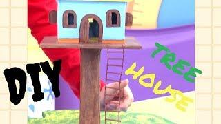 DIY Tree House-How To Make A treehouse Using Cardboard