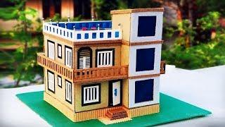 How to Make a Beautiful House from Cardboard - Modern House Building Dreamhouse Architecture DIY