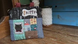 DIY 퀼트 카드지갑 만들기 │ Quilt Kitty House Card Case │  How To  Make Crafts Tutorial