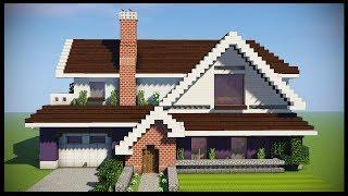 Minecraft Tutorial: How To Build A Large Suburban House