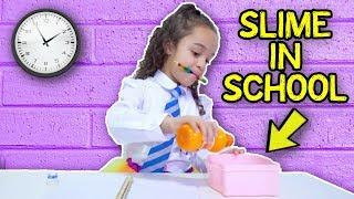 HOW TO MAKE SLIME IN SCHOOL WITHOUT GETTING CAUGHT!!!