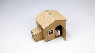 Mini Hamster House - Cardboard House For a hamster (Easy & Quick DIY)