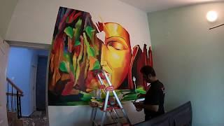 The Buddha Wallpaper like Painting for Zen Bedrooms | AapkaPainter