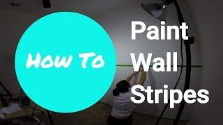 Painting Wall Stripes --Time Lapse--