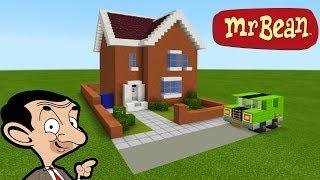"Minecraft Tutorial: How To Make Mr Beans House ""Mr. Bean (animated TV series)"""