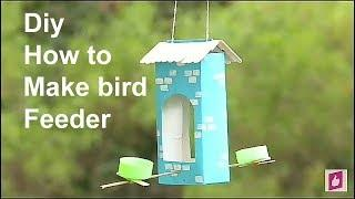 How To Make A Bird Feeder | DIY Homemade Bird Feeder | Bird House
