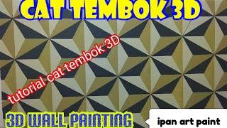 Cat tembok 3D- 3D wall painting- wall art painting- tutorial cat tembok 3D
