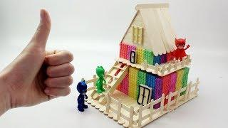 How To Make Kinetic Sand Rainbow Stick House Fun Toys Learn Colors Creative For Kids