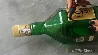 Recycle Wine Bottle| Bottle Decoration| Bottle Decor Craft| Very cheap| Very Easy