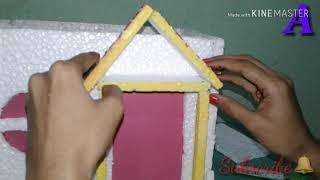 DIY|| #Diwali_Special ????| How to make thermocol mini house| Easy nd wonderful house||