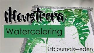 Watercolor painting | Monstrera leafs