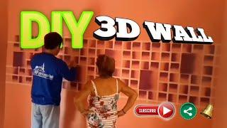 DIY How to make 3D Wall using spray paint