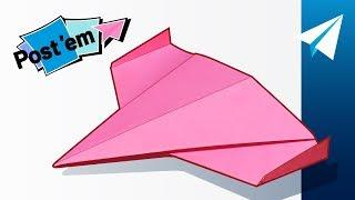 Awesome Sticky Note Paper Airplane! — How to Make Ares Drone | Mini Paper Airplane