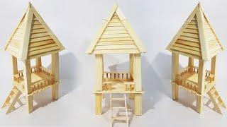 How to Make Ice-cream Stick Hut | Popsicle Stick House |Ice-cream Stick Easy Craft Idea |DIY|