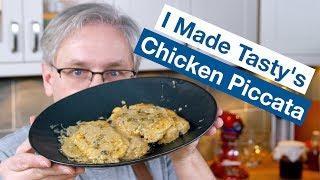 I Made Tasty's Creamy Chicken Piccata || Glen & Friends Cooking