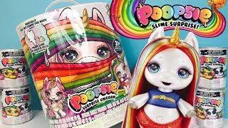 Poopsie Slime Surprise Unicorn Giant Rainbow Baby Licorne! Feed Glitter & Make Slime Blind Bags