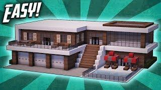 Minecraft: How To Build A Modern Mansion House Tutorial (#27)