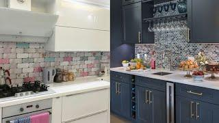 Stunning small kitchen color and tiles remodeling ideas