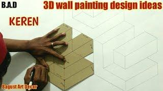 3D WALL PAINTING || 3D WALL PAINTING DESIGN IDEAS FOR INTERIOR