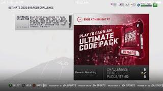 HOW TO BEAT ALL 5 ULTIMATE  CODE BREAKER SOLOS MADDEN 19 ULTIMATE TEAM