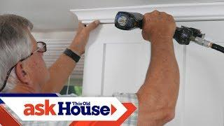 How to Hang Crown Molding on Kitchen Cabinets