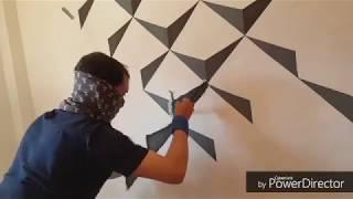 Room paint desing/ 3d wall paint/ Room decoration/ interior design / Wall art