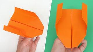 Easy Boomerang Paper Airplane that Actually Comes Back! - How to Fold Backlash
