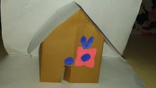 How to make easy paper house/paper craft