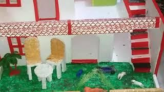How to make thermocol house for school project