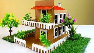 How to make DIY Cardboard House With Garden #73 | Easy Fun Crafts