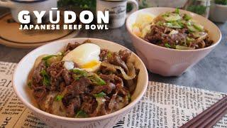 How to make the perfect Japanese Beef Bowl (Gyudon) SUPER EASY RECIPE