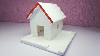 DIY - Thermocol House - How To Make Thermocol House - Thermocol House For School Project