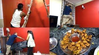House Painting Start(vlog) || Navratry aur diwali ki preparation start || Before painting tips 2018.