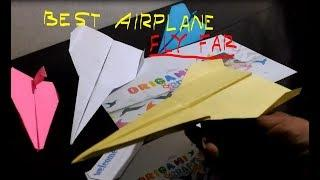 How to Make a EASY Paper Airplane That Flies Good and Far - BEST Paper Airplanes in The World!