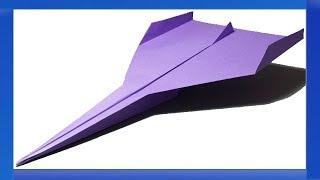 How to make a paper airplane : origami airplane that FLIES FAST & FAR