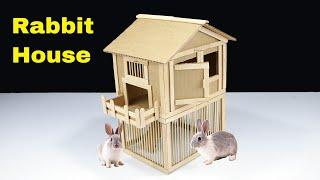 How to make Amazing Rabbit House from Cardboard - POPs