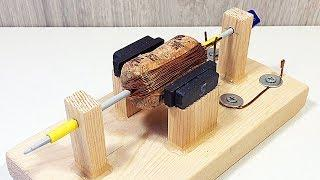 How to make the DC motor from a wine cork ? Awesome DIY project